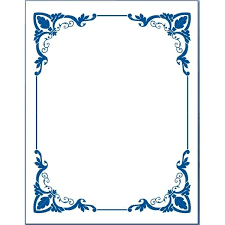 Small Picture Blue Flower borders for word document 5 in Border Designs