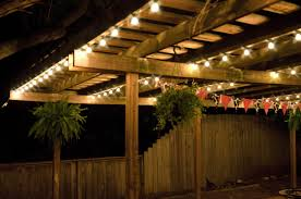 outdoor patio lights string summer battery for on fence ideas