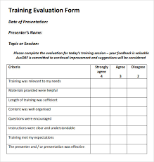 Training Feedback Form Template