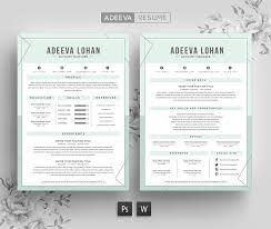 Simple Resume Template Creative Resume Template Lohan Resume Templates Creative Market 48