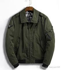 er jacket men winter fly badge turn down collar coat zipper pocket black grey army pilot jackets windbreaker cbj hockey team cool mens coats from