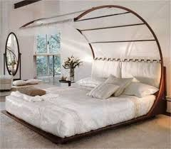 Stylish Small Beds In Bedroom With Retro Design.