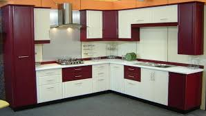 Kitchen:Amazing Corner Cabinets With Maroon And White Combination Design  Kitchen Cabinets Finding Great Design