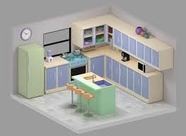 Model Kitchen kitchen 3d model realtime cgtrader 1730 by xevi.us