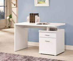 office desk with filing cabinet. Coaster Cst800110 White Finish Wood Small Office Computer Desk For With File Drawer Idea 1 Filing Cabinet