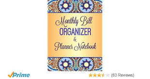 monthly bill organizer notebook monthly bill organizer and planner notebook simple budget planners