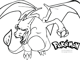 Charizard Pokemon Card Coloring Pages Page Mega X Ex Colouring