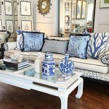 Blue And White Chinoiserie Living Room  Simplified BeeChinoiserie Living Room