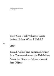 About The House / Silence Turned Into Objects, 2013 - ricardadenzer.net