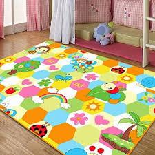 girls room area rug. ,Cute Honeybee Kids Living Room Carpet,Elegant Colorful Rainbow Large Area Rugs,Sweet Flowers Girls Floor Mat-in Carpet From Home \u0026 Garden On Rug O