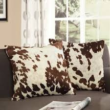 throw pillows with removable covers. Interesting Pillows Image Is Loading ThrowPillow18inchDecorCowHidePrint With Throw Pillows Removable Covers