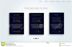 Abstract Flyer Design With Tariffs Page Price Table Chart