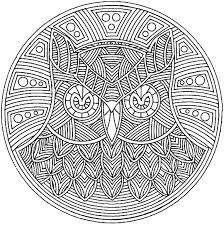 Free Owl Mandala Coloring Page For