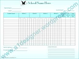 Class Roll Sheet Com Attendance Cafenatural Co