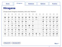 Hiragana Number Chart Learning Japanese Hiragana Or Katakana First Learn