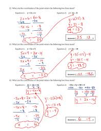 Answers to worksheet 10 - Mr. Maag - Grade 9 Math