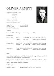 Beginner Child Actor Resume Template Bitwrkco