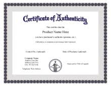 Certificate Of Authenticity Template Free Printable Certificate of Authentication Templates Artpromotivate 2