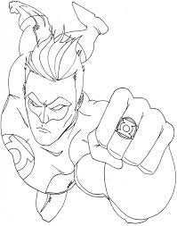Small Picture Green Lantern Coloring Pages lezardufeucom