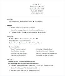 How To Write A Resume For A Teaching Job Best of Teachers Resume Objective Mycola