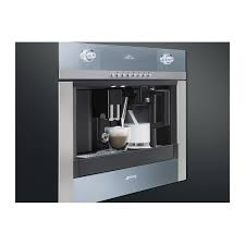 ... SMEG BUILT-IN COFFEE MACHINE WITH CAPPUCCINO MAKER CMSC451 STAINLESS  STEEL AND SUPELSILVER GLASS 60 ...