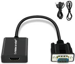 Lemorele VGA Adapter to HDMI with Audio, 1080P 60Hz HDMI Female to VGA Male  Converter, USB Charging Cable Connection Computer Laptop PC to HDTV Monitor  Projector Black: Amazon.de: Computer & Accessories