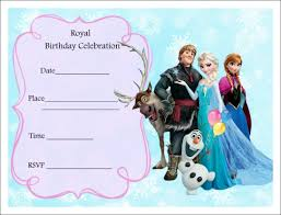 free birthday invitation template for kids printable frozen birthday invitations printable frozen birthday