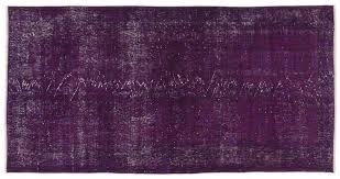 purple over dyed turkish rug 6
