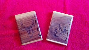 Handmade Laser Engraved Business Card Holder By Rats Wood Creations