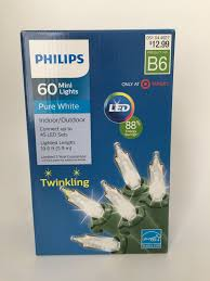 Philips Twinkle Lights Philips 60 Pure White Led Mini Twinkling Lights Indoor Outdoor New