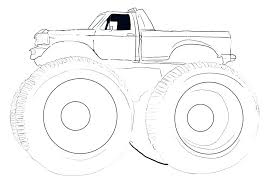 Monster Truck Coloring Pages Free Printable Grave Digger To Print