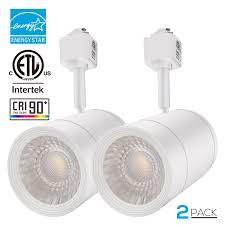 best track lighting for art. Integrated CRI90+ LED Track Light Head, Dimmable 38° Spotlight Light, 1200lm ENERGY STAR ETL-Listed For Accent Task Wall Art Exhibition Lighting, Best Lighting