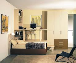 cool teenage bedroom furniture. Bedroom. Brown Leather Bed Combined With High White Wooden Wardrobe And Cream Study Table Cool Teenage Bedroom Furniture N
