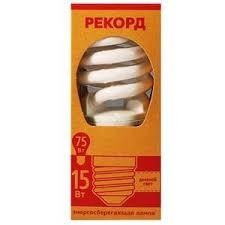 Купить <b>Лампа</b> энергосберегающая цоколь Е27 «<b>Рекорд</b>» - A60 ...