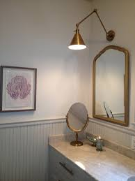 circa lighting sconces visual comfort sconces white wall flower painting gold lamp holder and mirror liner classic cabinet for traditional bathroom style