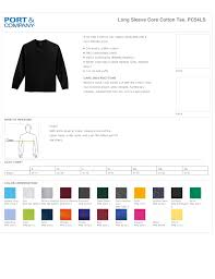 C Port And Company T Shirts Size Chart Nils Stucki