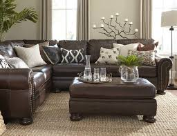 brown living room decor brown couch