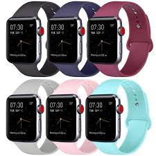 6 Pack Compatible Apple <b>Watch Band</b> 38mm 40mm 42mm 44mm ...