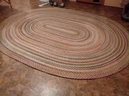 found this rug at the goodwill for 25 00 researched it by the label it s a 7x9 wool blend oval rug retails around 700 00