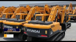 Heavy Equipment Key Chart Hyundai Construction Equipments Manufacturers India