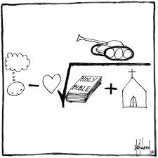 a difficult math equation cartoon by pastor david hayward