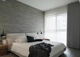 modern monochromatic bedroom