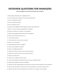 Motivation Interview Questions 109 Best Interview Questions For Managers How To Answer