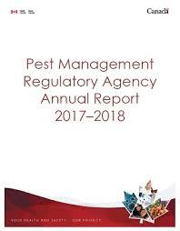 Pest Management Regulatory Agency Annual Report 2017 2018