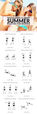 shoulders arms summer routine for women