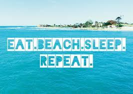 Eat Beach Sleep Repeat Urlaubsgrüße Postkarten Echte