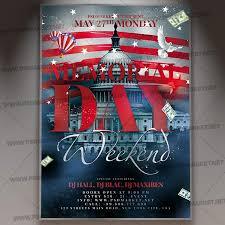 Memorial Day Weekend Flyer Psd Template