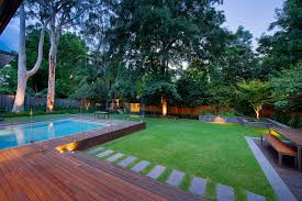 modern pool designs and landscaping. Stunning Backyard Landscape Ideas With Traditional Wooden Bench And Small Pool Design Modern Designs Landscaping D