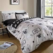 pug amp kittens walkies duvet cover set new bedding  single