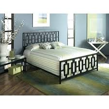Metal Head And Footboard King Bed Frame With Modern Square Tubing ...